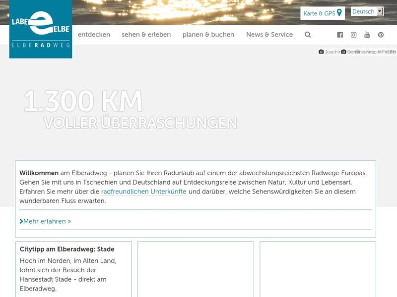 Screenshot von https://www.elberadweg.de/